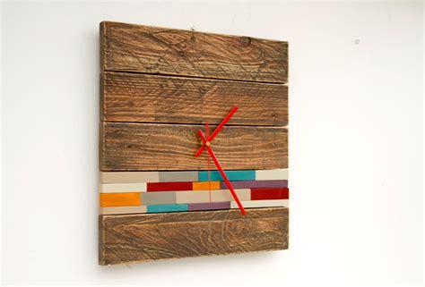 modern wooden wall reclaimed wood wall clock modern wood clock with