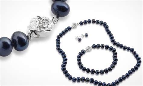 Nm Gmb Set Modera Modern Tosca black pearl jewellery set groupon goods