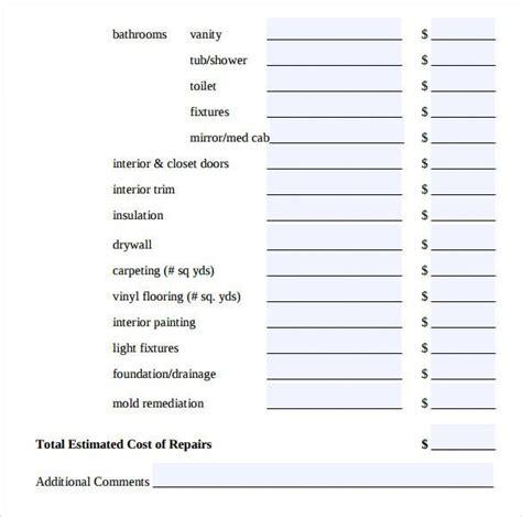 painting estimate templates download free premium