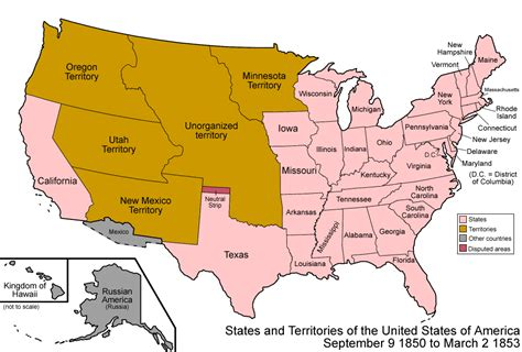 united states map of slavery state and national politics