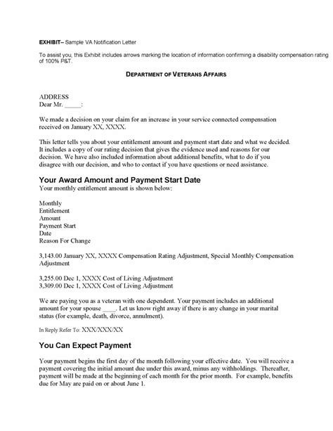 Proof Of Disability Letter Va va disability compensation verification letter docoments