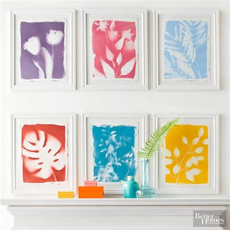 diy artwork botanical prints better homes and gardens