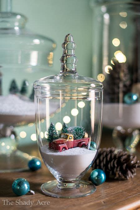 christmas apothecary jars create your own snow scene