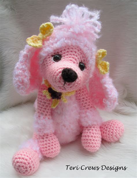 yarn poodle pattern crochet pattern poodle dog by teri crews instant download pdf
