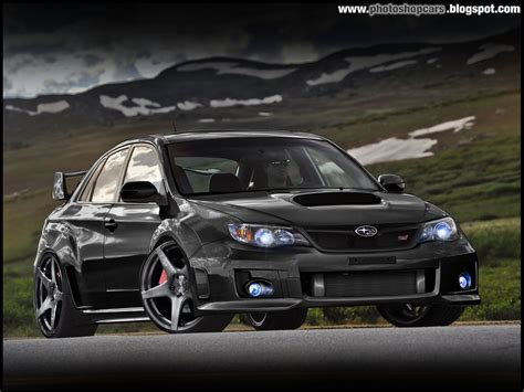 subaru car back subaru impreza black hatchback