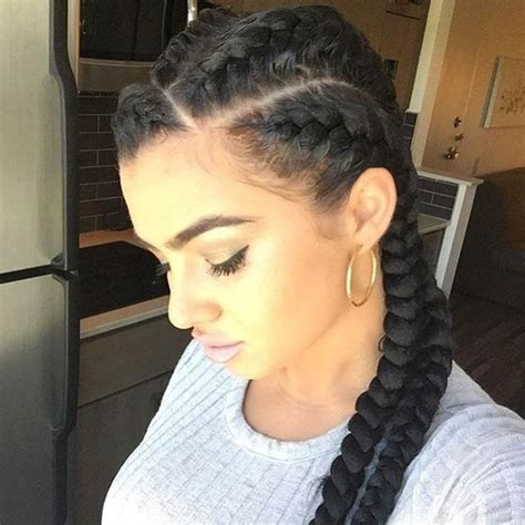One Braid Black Hairstyles by 31 Goddess Braids Hairstyles For Black Stayglam