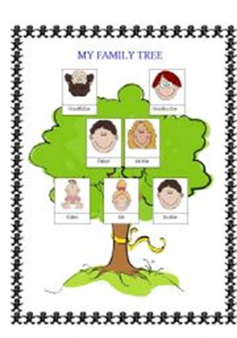 family tree worksheets for kindergarten printable