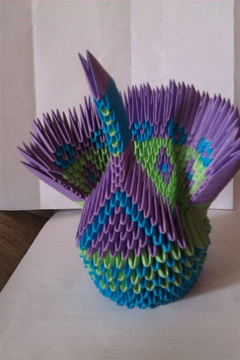 Origami Peacock Diagram - 17 best images about modular origami on