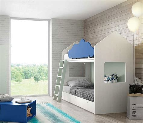 barandilla litera litera casita con escalera y barandilla con forma de nube