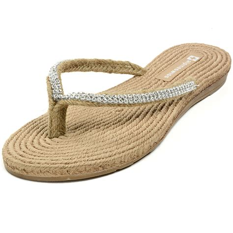 comfort flip flops alpineswiss womens rhinestone sandals padded sole thongs