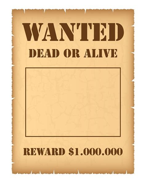 How To Create And Use Wanted Posters For Different Goals Printmeposter Com Blog Wanted Poster Template