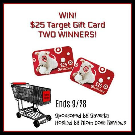 Enter To Win A Target Gift Card - enter to win 25 target gift card 2 winners
