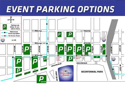American Airlines Arena Parking Garage P2 american airlines arena parking stadium parking guides