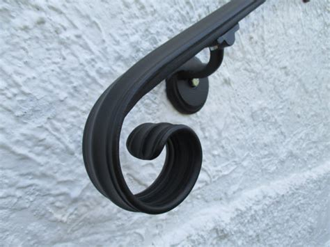 6 Foot Handrail 6 Ft Wrought Iron Rail Wall Rail Stair Step Railing Wall