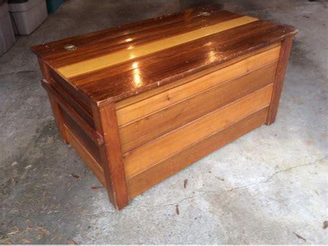 Handmade Cedar Chest - handmade cedar chest duncan cowichan