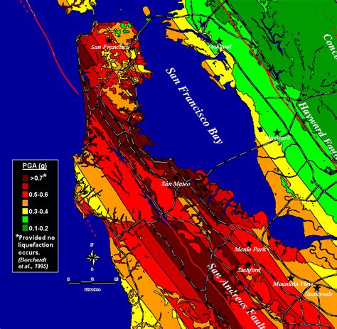 earthquake data earthquake ground shaking in the san francisco bay region
