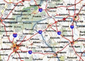 map of i 85 in carolina images