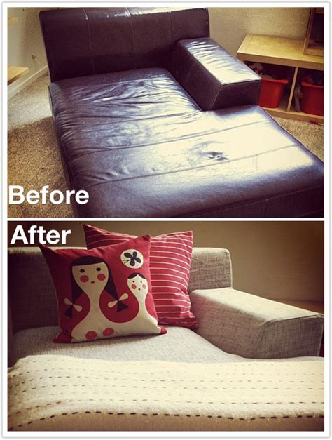 how to change leather sofa cover kramfors leather vs kramfors fabric slipcover cw