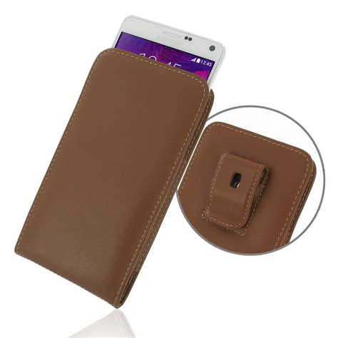 Pouch Samsung Note 4 samsung galaxy note 4 pouch with belt clip brown