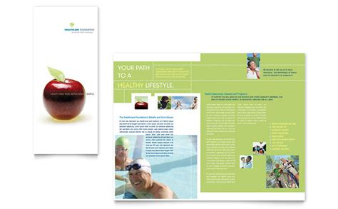 healthcare brochure healthcare management tri fold brochure template design