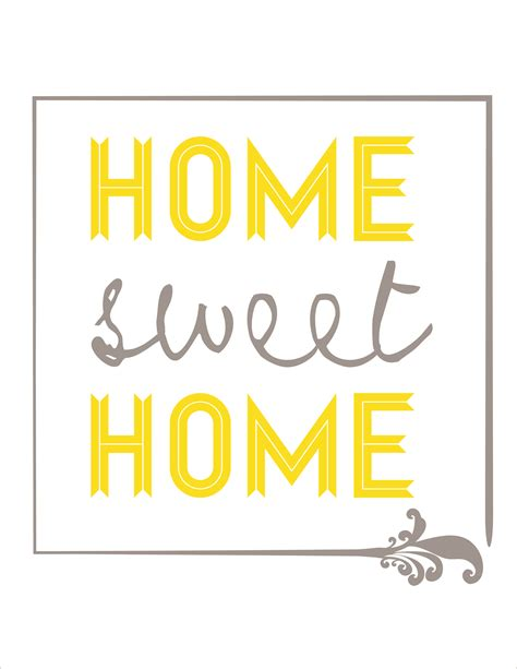 printable home decor 7 best images of sweet home printable free printable