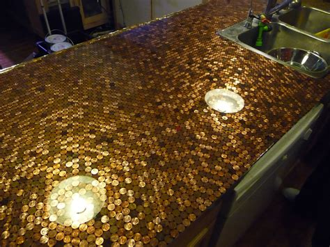 penny bar top diy install a penny countertop in your kitchen make