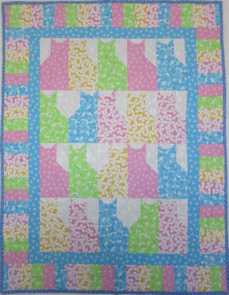 Childrens Patchwork Quilts - handmade patchwork quilt for cats