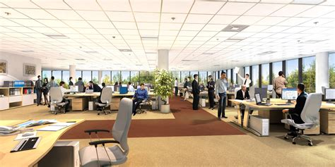 How Open Plan Office Space Design Affects Employee S Open Floor Plan Office Increase Productivity