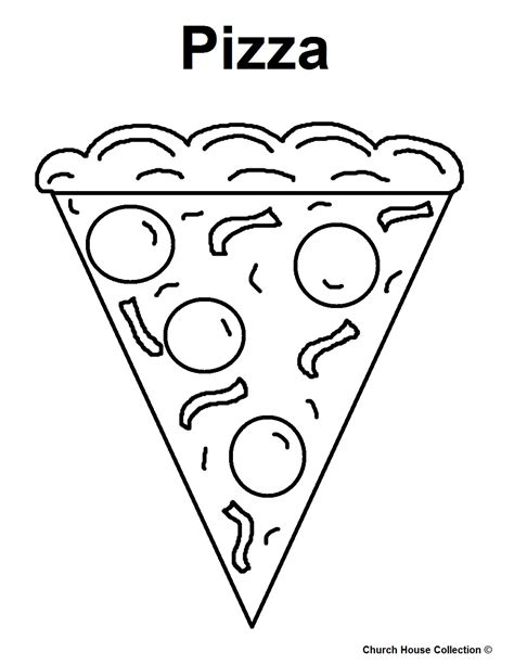 pizza coloring pages preschool free coloring pages of pizza