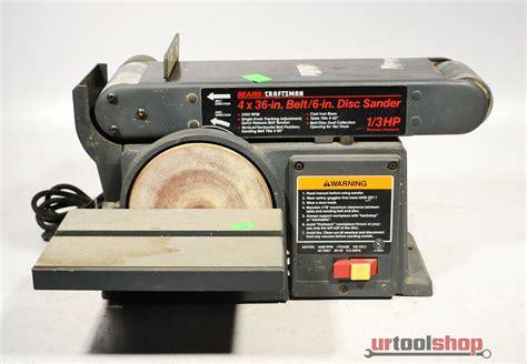 Sears Craftsman Model 113 226431 4 Quot Belt 6 Quot Disc Disk 1 3