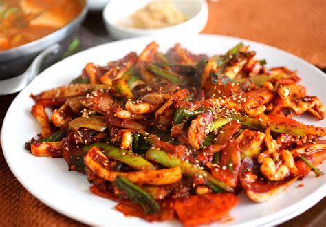 Popular Grocery Stores korean food photo squid got stir fried by maangchi