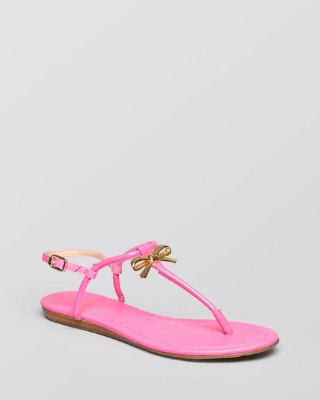 kate spade pink sandals kate spade flat sandals tracie bow in pink zinia