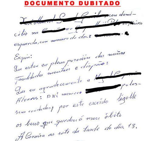 testamento olografo valido testamento ol 243 grafo manuscrito pericia caligr 225 fica