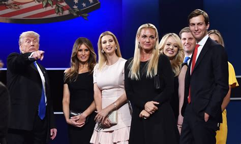 donald trump family photos in pictures clinton gets under trump s skin in