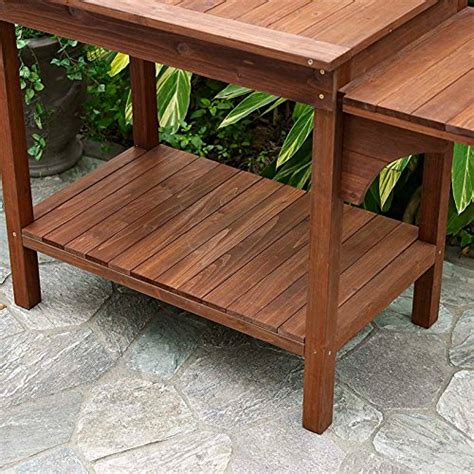 Garden Work Table by Garden Potting Bench With Storage Shelf Wood Outdoor Large