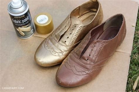 black spray paint for shoes diy black gold brogues 183 how to rev a pair of