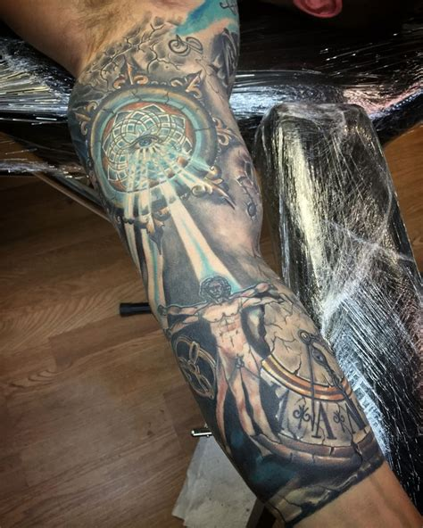 timeless sleeve tattoo designs collection of 25 timeless color clock design