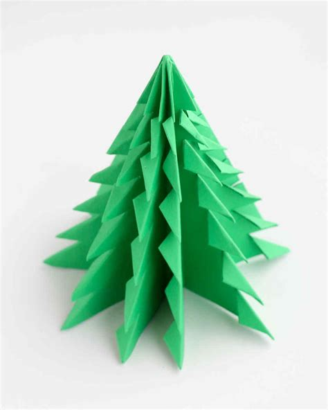 christmas tree paper folding origami trees