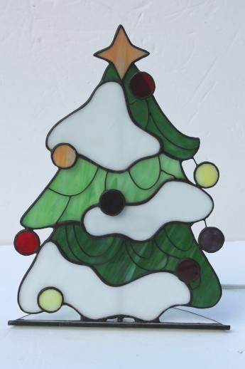 christmas tree pattern stained glass stained glass christmas tree light electric candle l