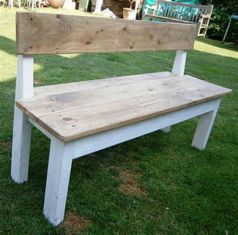 farmhouse bench with back shabby chic rustic 4ft farmhouse style bench with back