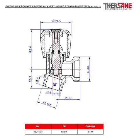 Robinet Pour Machine A Laver by Robinet Machine 224 Laver Sortie 3 4 Quot Laiton Chrom 233