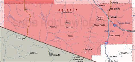 pima maps map az pimma county