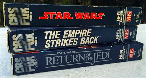 wars vhs releases collectibles from the outer