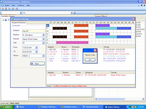 visual basic flowchart generator class scheduling and time tabling system vb net free