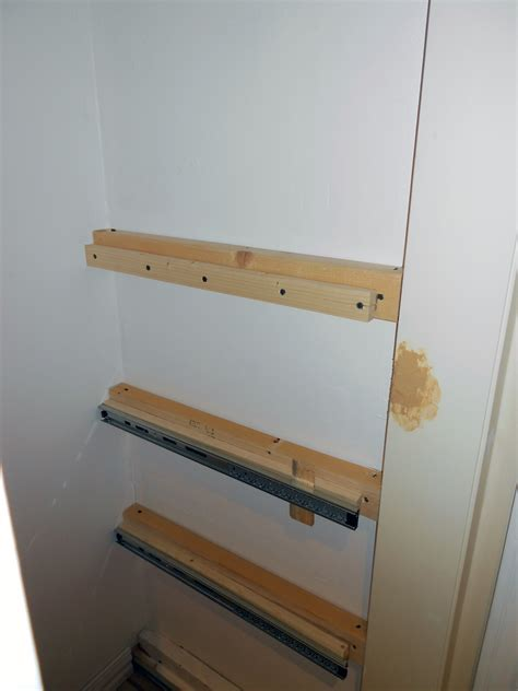 how to make sliding shelves 301 moved permanently