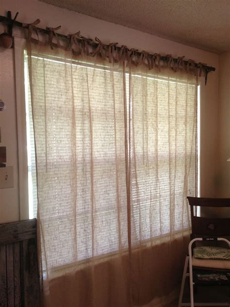 burlap curtains house pinterest burlap americana