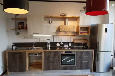 cucine acciaio e legno cucina in legno di recupero e tubi in acciaio xt cuc001