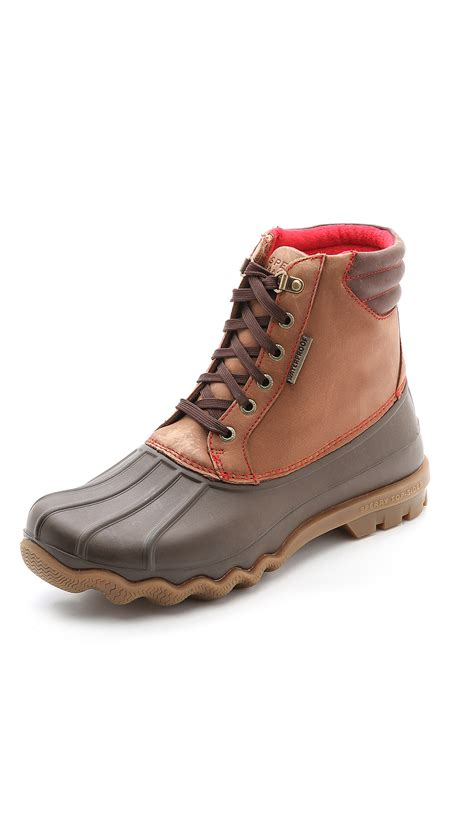 duck boots for sperry top sider avenue duck boots in brown for