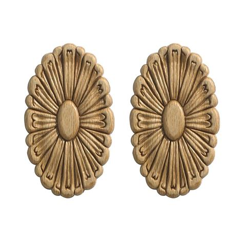 decorative moulding home depot ornamental mouldings small rosettes 2 card oak the
