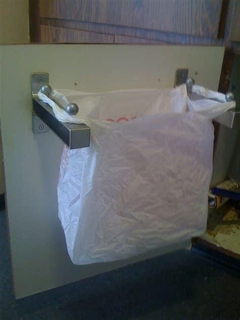 ikea bag hack under sink carrier bag bin from ikea shelf brackets